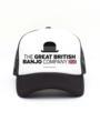 The Great British Banjo Company logo on a trucker cap, designed by Matt Copland
