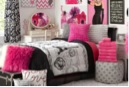 Paris in Deep Pink Dorm Bedding Set