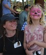 Face painting is one of the family-friendly activities at the Plein Air Festival.