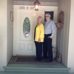 Jody and Mike Telegan, owners of A Haven of Rest near Yosemite, were one of two Yosemite area bed and breakfasts honored with TripAdvisor's Certificate of Excellence honoring highest levels of customer service