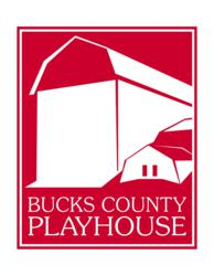 Award-winning logo design by Imbue Creative for the Bucks County Playhouse