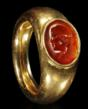 Roman Gold Ring with Carnelian Portrait Intaglio