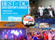 2013 Editor's Choice winner for DC's Best Outdoor Venue!