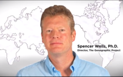 This is a picture of Spencer Wells, Ph.D. Director of The Genographic Project