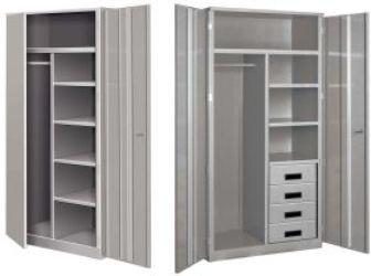deluxe metal wardrobe cabinet
