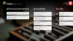 Haiku Learning for Windows 8 Dashboard