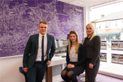 L-R Sam Haunton, Negotiator; Melissa Mussett, Senior Negotiator and Kirstie Berville, Branch Manager