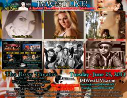 Pre-Sale Tickets available at www.JMWestLIVE.com