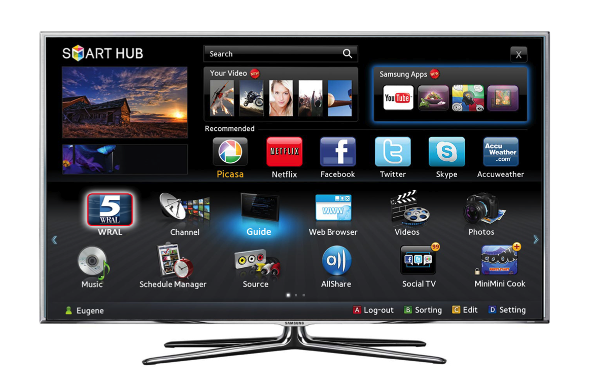 how to download apps on smart tv samsung