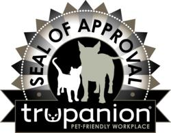 seal of approval, trupanion, pet insurance, pets in the workplace, pets at work