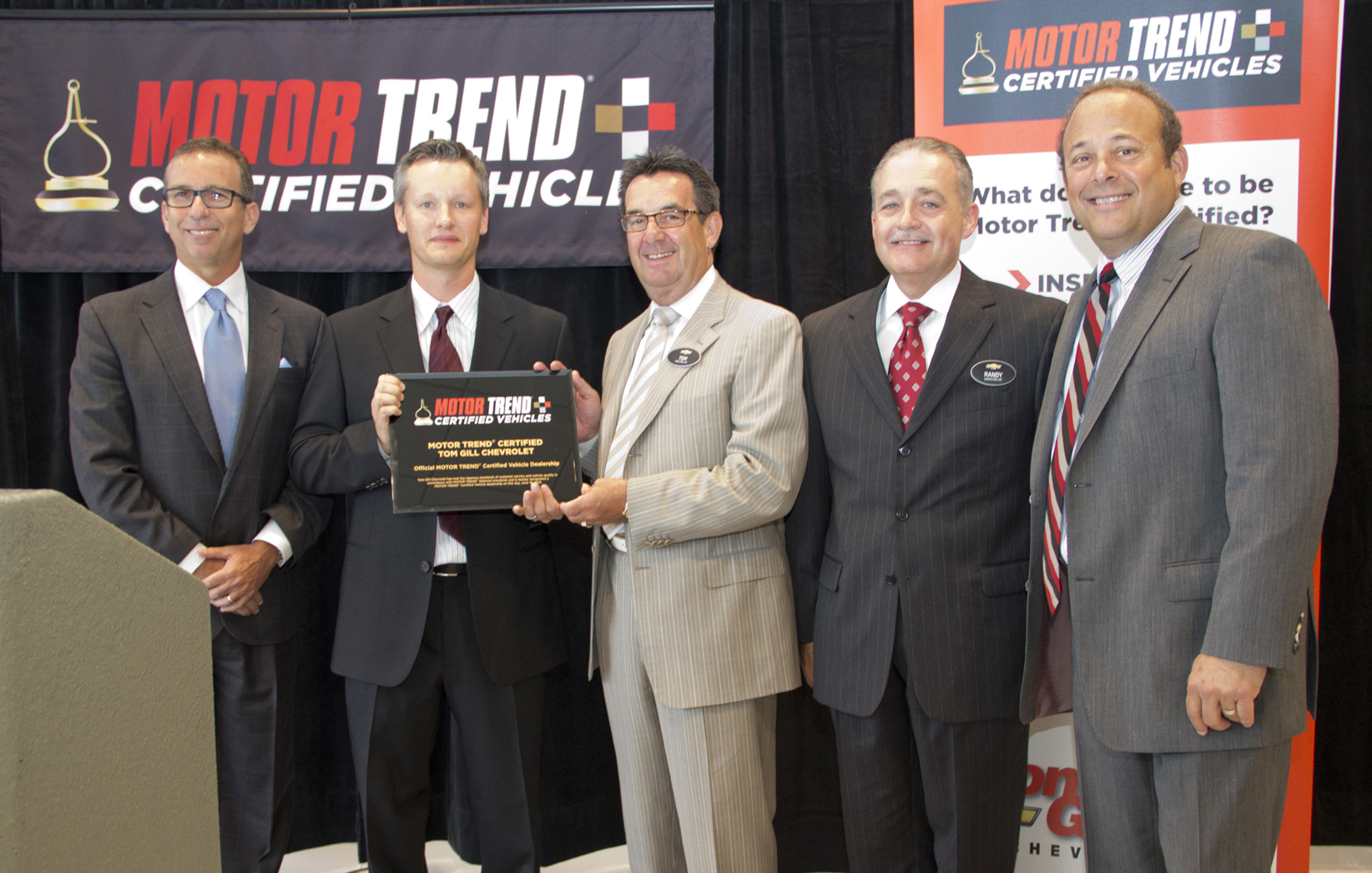 tom gill chevrolet designated as motor trend® certified dealership