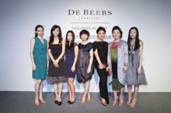 "De Beers, The Jeweller of Light, celebrates talented women through the unveiling of its ""Moments in Light"" exhibition."