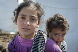 Displaced Syrian children