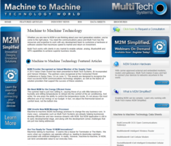 Multi-Tech Launches M2M News Channel on TMCnet: Machine to Machine Technology World