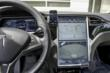iPhone Mounted in Tesla S