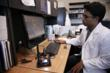 Mercy scientist Rahul Eapen works on the corneal wound repair program at Mercy R&D.