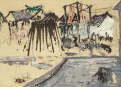 Ian Fairweather's c1934 painting Village (Lot 40 est. $120,000 – 140,000)