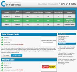 Cable Internet Providers In My Area >> Cable TV Companies are Easy to Find, Thanks to New Website CableCompaniesInMyArea.net