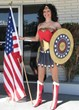 Wonder Woman Costume using our white iron on star patches and red star appliques in many sizes!