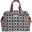Be Prepared Diaper Bag in Crimson Kaleidoscope