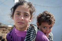Displaced Syrian children