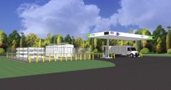 Heavy Duty Compressed Natural Gas Fueling Facility Coming