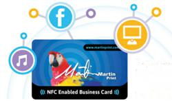 Free NFC Cards are now available from Martin Print, featuring customised business designs.