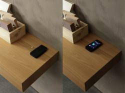 Presotto's forward-thinking QI technology on its new wall units enable smartphone users to charge their phones without wires or hassle.