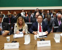 Marlin Steel President Drew Greenblatt prepares to testify before House Energy and Commerce subcommittees about domestic energy boom's impact on manufacturing