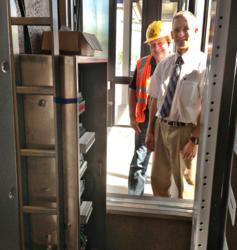 EMI shielded cabinet for the Minneapolis Light Rail System expansion. Installed bye Aldridge Electric.