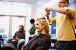 hairstylists give advice to a potential semi permanent make-up client