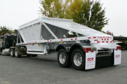 bottom dump trailer, belly dump trailer, steel bottom dump trailer