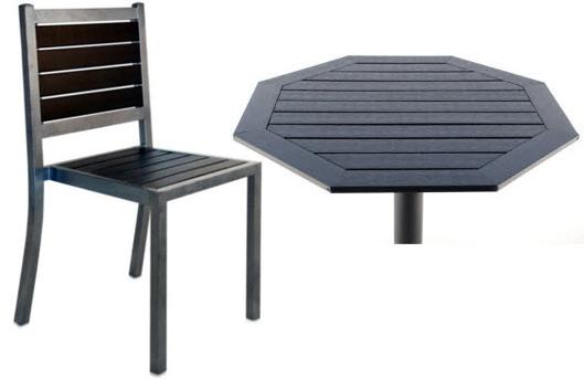 Wonderful Plas Teak U0026 Metal Patio Chair U0026 Plas Teak Table Top ...