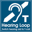 Hearing aids equipped with a t-coil can receive a signal from a hearing loop