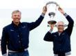 Igor Simcic and Jochen Schuemann with Kieler Woche Trophy