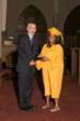 Headmaster Jim Rice pictured with Service Award recipient Jessica Thelismond