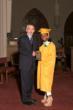 Headmaster Jim Rice pictured with Spirit Award recipient Danisha Charles
