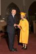 Headmaster Jim Rice pictured with Salutatorian Alexandra Rosa