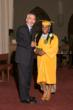 Headmaster Jim Rice pictured with valedictorian Laura Kay Demezieux