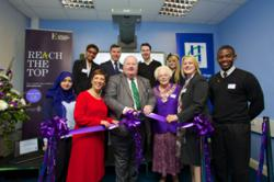 Eric Pickles MP, Secretary of State for Communities and Local Government, opens the new Peter Jones Enterprise Academy in Brentwood