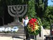 Jewish Agency for Israel Chairman Natan Sharansky laid a wreath in memorial ceremony for the 50,000 Jews massacred by the Nazis at Babi Yar in 1941. (Courtesy: Tali Aronsky)