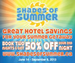 Shades of Summer - Great hotel savings for your summer getaway