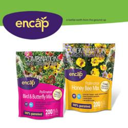 Encap's new flower mixes for 2013: Pollinator Bird and Butterfly Mix and Pollinator Honey Bee Mix