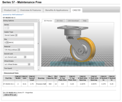 Caster Concepts Launch Custom Caster Configurator with 3D CAD Catalog Powered by CADENAS PARTsolutions