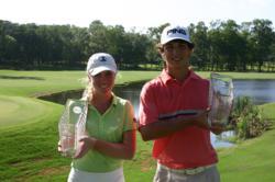 A photo of the 2012 AJGA David Toms Foundation Shreveport Junior winners