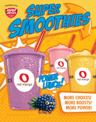 Red Mango introduces new Super Biotic smoothies.