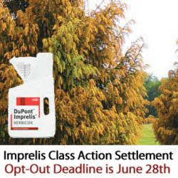 For a free Imprelis claims consultation concerning the class action settlement, your rights, how to opt out , or other questions contact Wright & Schulte 1-800-399-0795 or visit www.yourlegalhelp.com
