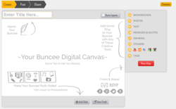 buncee's digital canvas