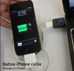 An iPhone charging at less than 50% speed. The Practical Meter aims to solve slow charge times.