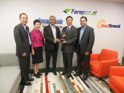 Mark Kim, Yu Seung Kim, Sam Jain, Jong Woo Seo, Sanjay Hathiramani, CheapOair, Korean Air